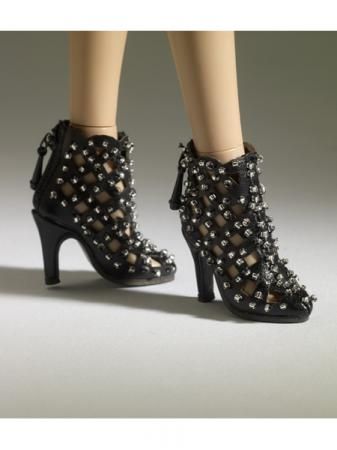 TNM0077 Tonner Nu Mood Black Ankle Boot 1 Doll Shoes 2012