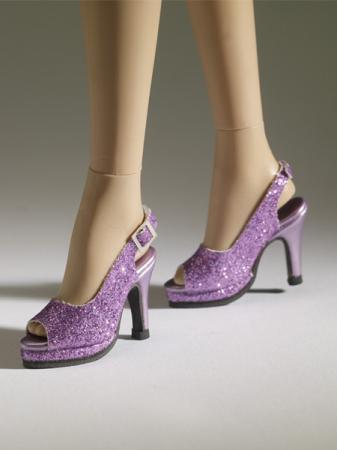 TNM0081 Tonner Nu Mood Purple Sparkle High Heel 9 Doll Shoes 2012