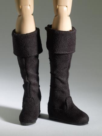 TNM0082 Tonner Nu Mood Black Flat Boot 1 Doll Shoes 2012