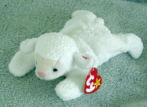96f25dff216 0TBB0008 Ty Fleece the White Lamb Beanie Baby 1997-1998