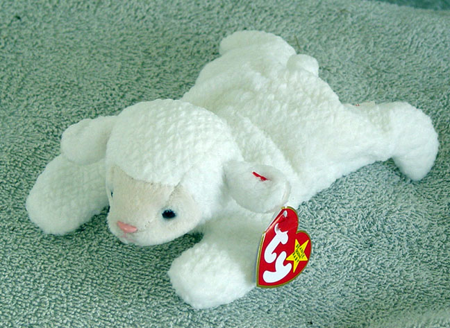 220e6102aaf Ty Fleece the White Lamb Beanie Baby 1997-1998