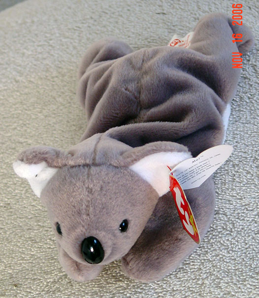 e9832728aa8 Ty Mel the retired light brown and white Koala bear beanie baby plush
