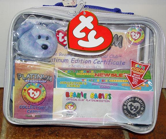 Ty Clubby II Bear Beanie Baby Platinum Kit 1999 5ca1a14c798b