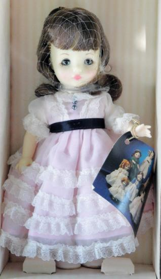 IDE0051 Ideal Brunette 8 In. Victorian Ladies Doll in Pink, 1983